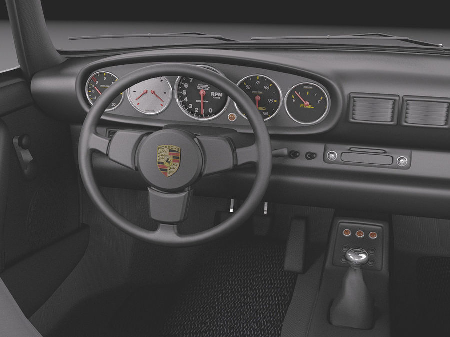 Porsche 911 964 Carrera 1990 royalty-free 3d model - Preview no. 10