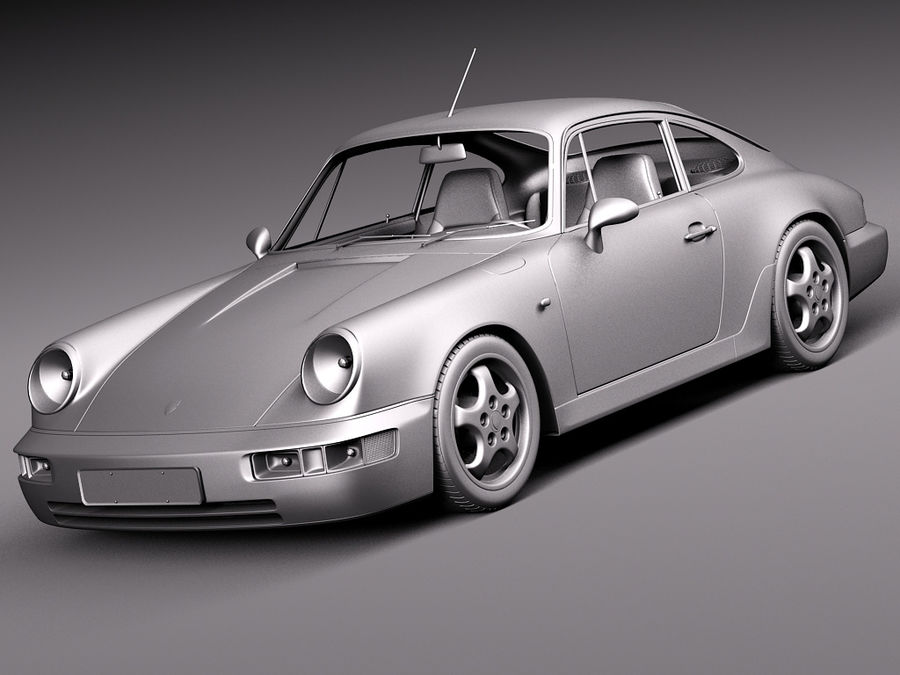 Porsche 911 964 Carrera 1990 royalty-free 3d model - Preview no. 15