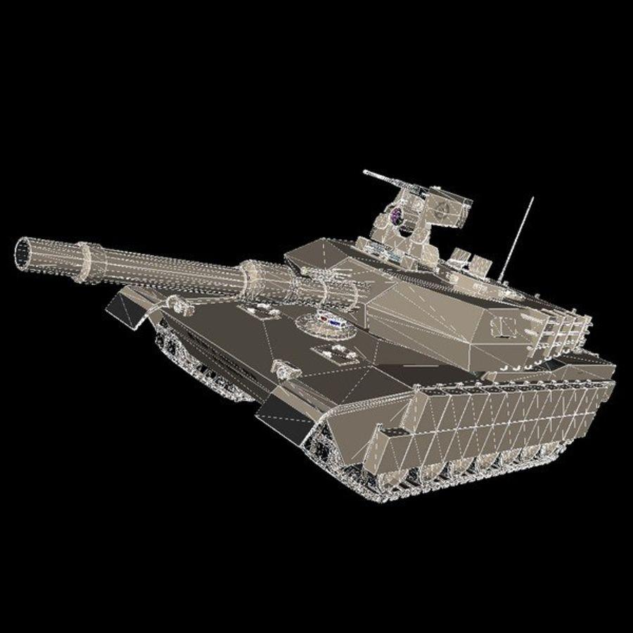 エイブラムスM1A2 royalty-free 3d model - Preview no. 3