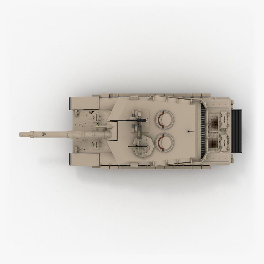 エイブラムスM1A2 royalty-free 3d model - Preview no. 6