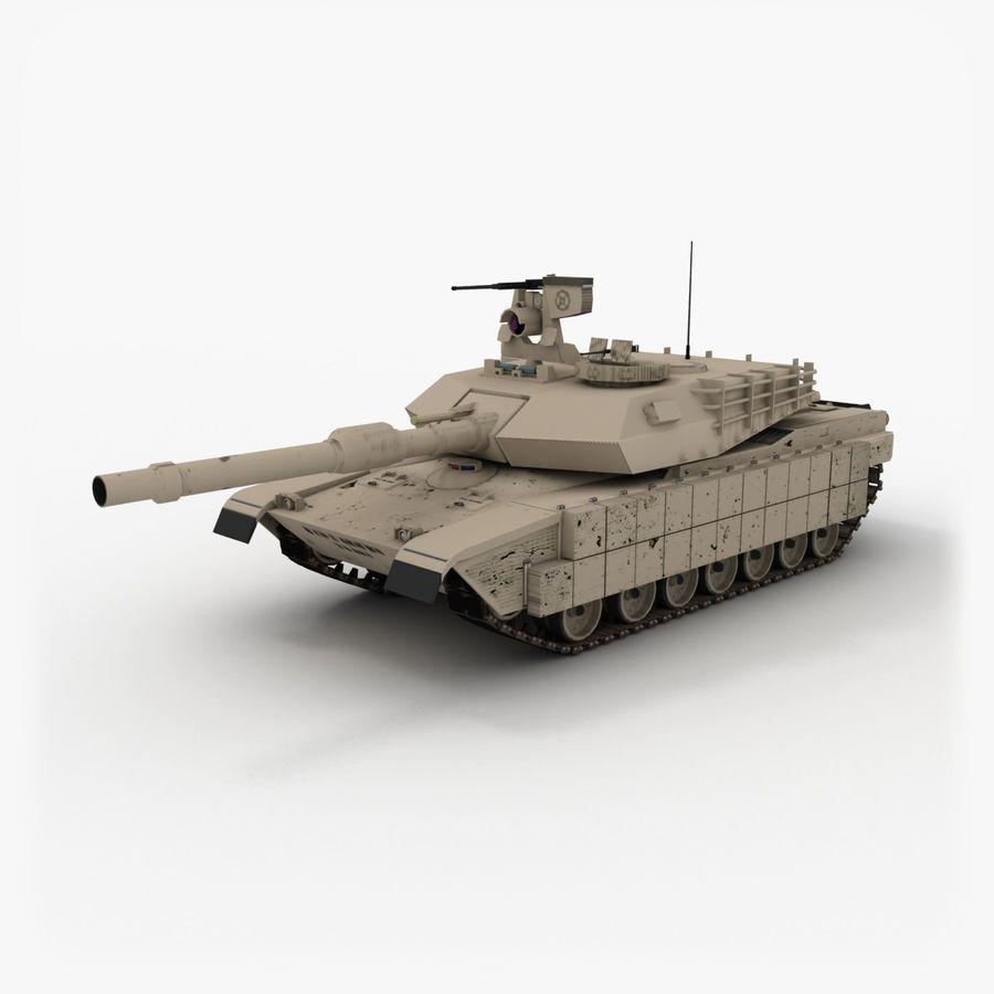Abrams M1A2 royalty-free 3d model - Preview no. 1