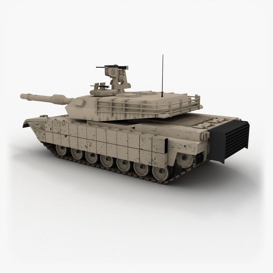 Abrams M1A2 royalty-free 3d model - Preview no. 2