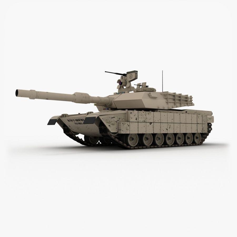 Abrams M1A2 royalty-free 3d model - Preview no. 3