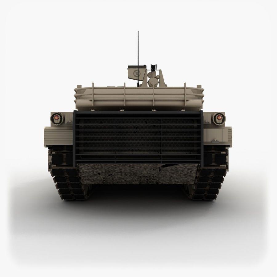 Abrams M1A2 royalty-free 3d model - Preview no. 5