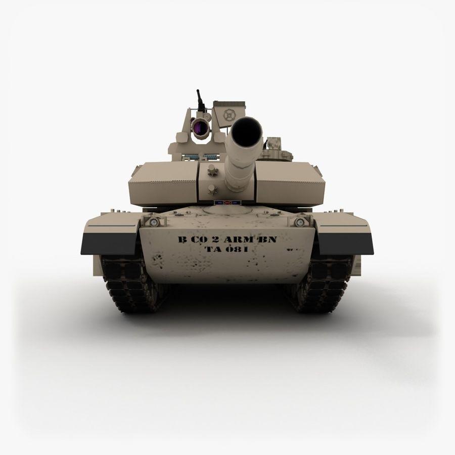 Abrams M1A2 royalty-free 3d model - Preview no. 4