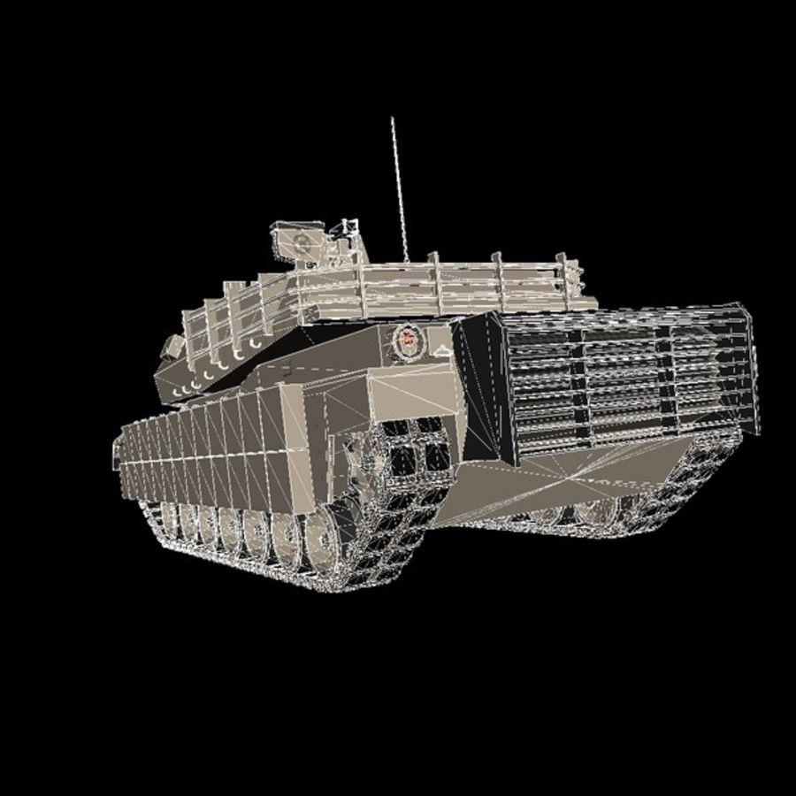 Abrams M1A2 royalty-free 3d model - Preview no. 8