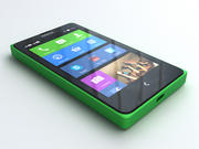 Nokia X ve X + 3d model