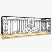 Wrought Iron Balcony 2 3d model