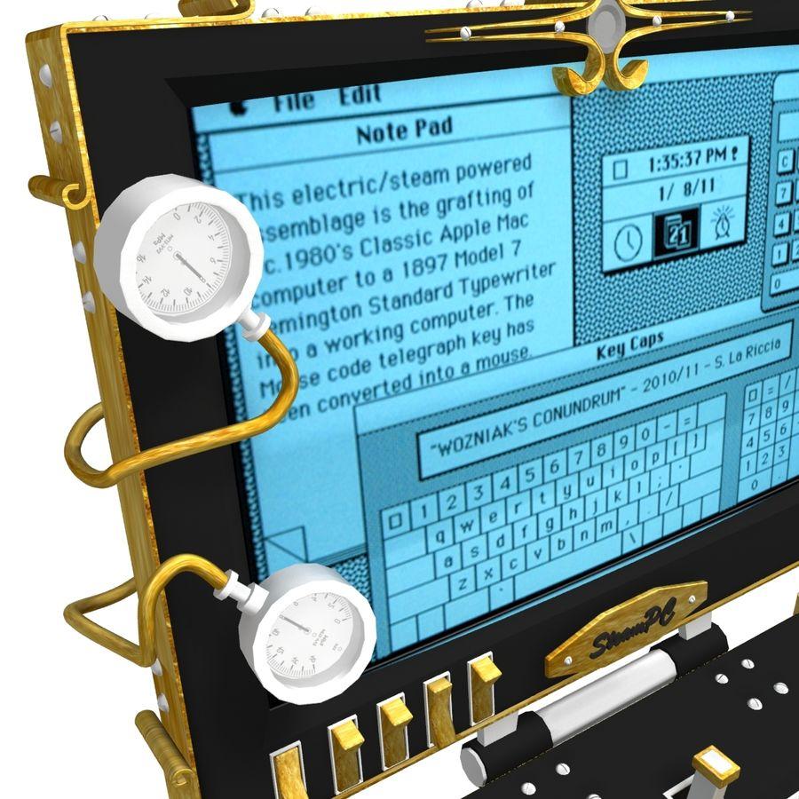 SteamPunk-laptop royalty-free 3d model - Preview no. 4