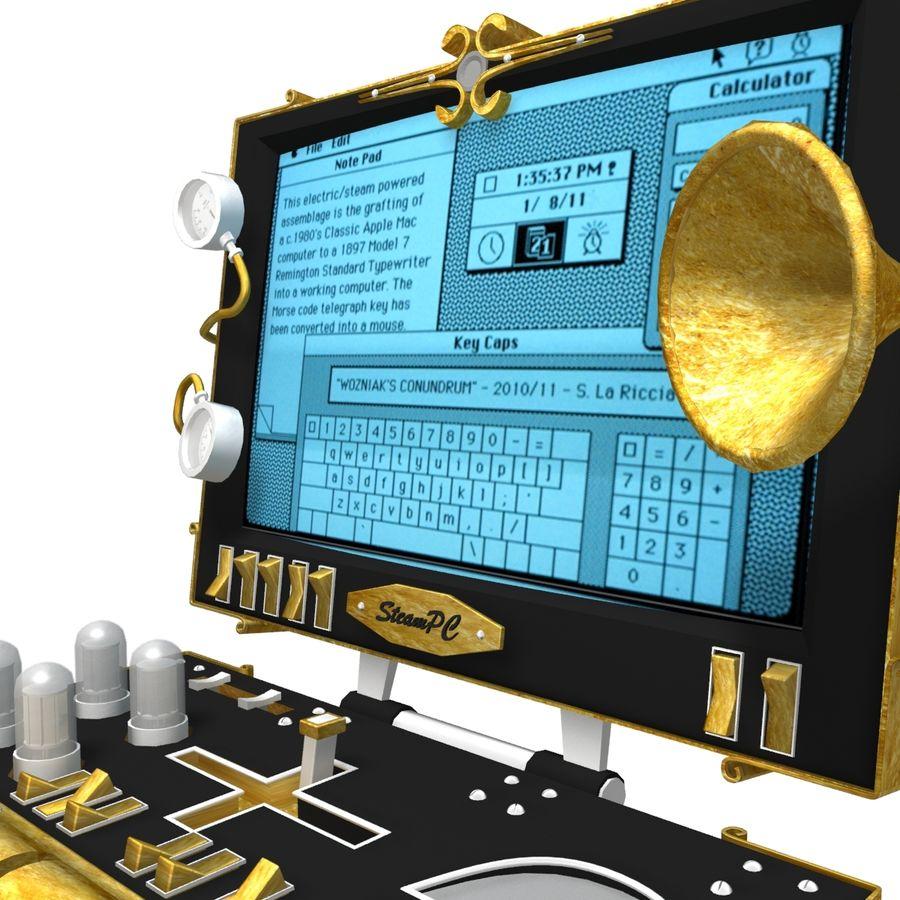 SteamPunk-laptop royalty-free 3d model - Preview no. 1