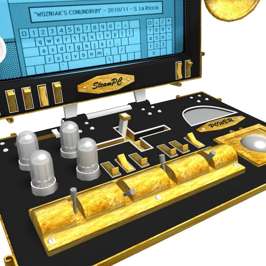 SteamPunk-laptop royalty-free 3d model - Preview no. 2