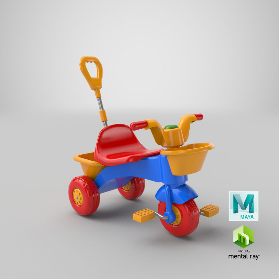 Trycykl royalty-free 3d model - Preview no. 18