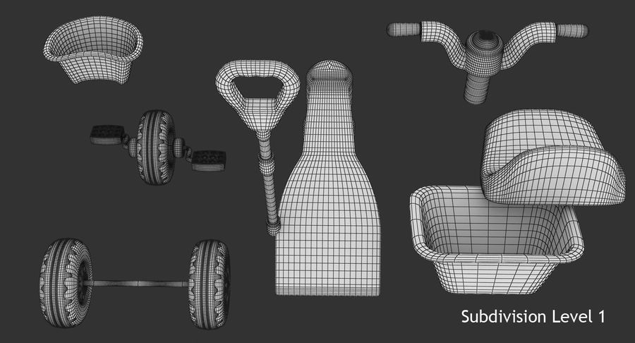 Trycykl royalty-free 3d model - Preview no. 14