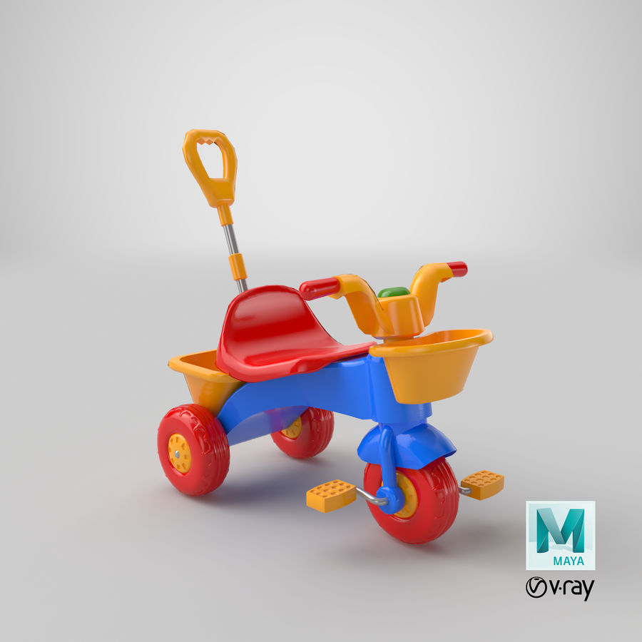 Trycykl royalty-free 3d model - Preview no. 17