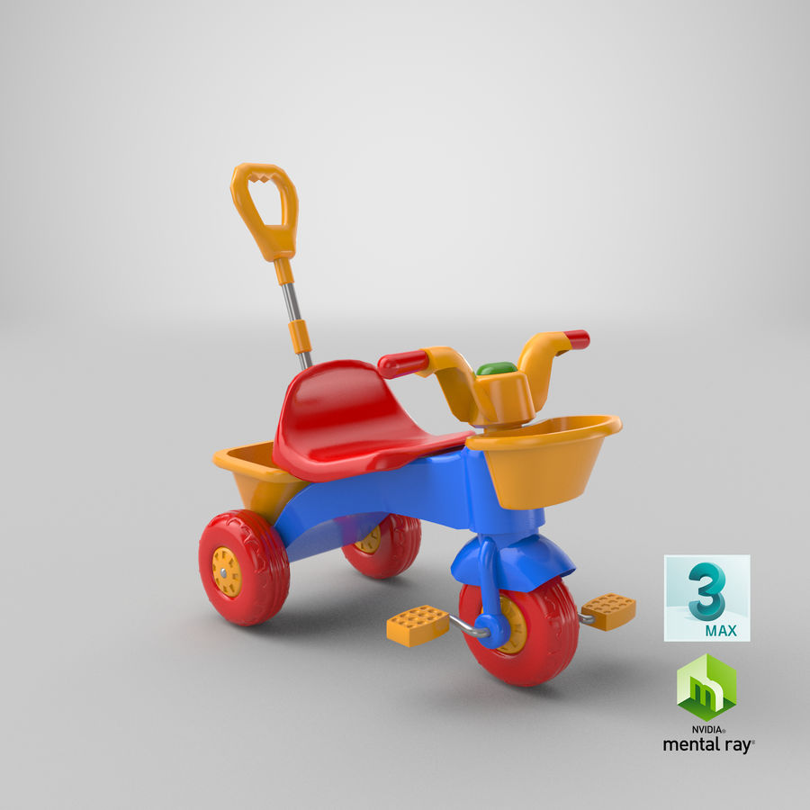Trycykl royalty-free 3d model - Preview no. 20