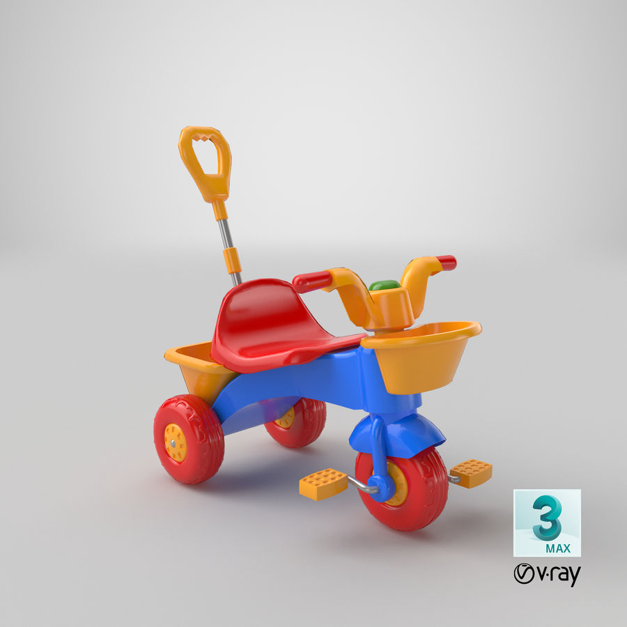 Trycykl royalty-free 3d model - Preview no. 19