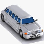 Cartoon Limousine 3d model