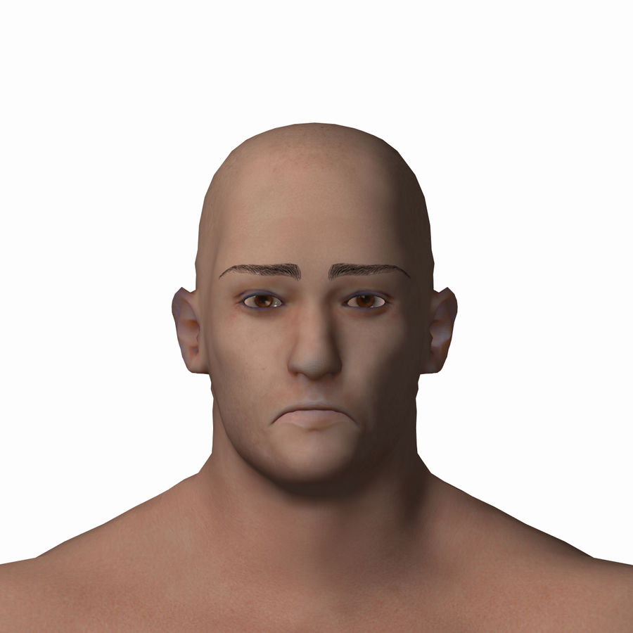 Personnage masculin royalty-free 3d model - Preview no. 16