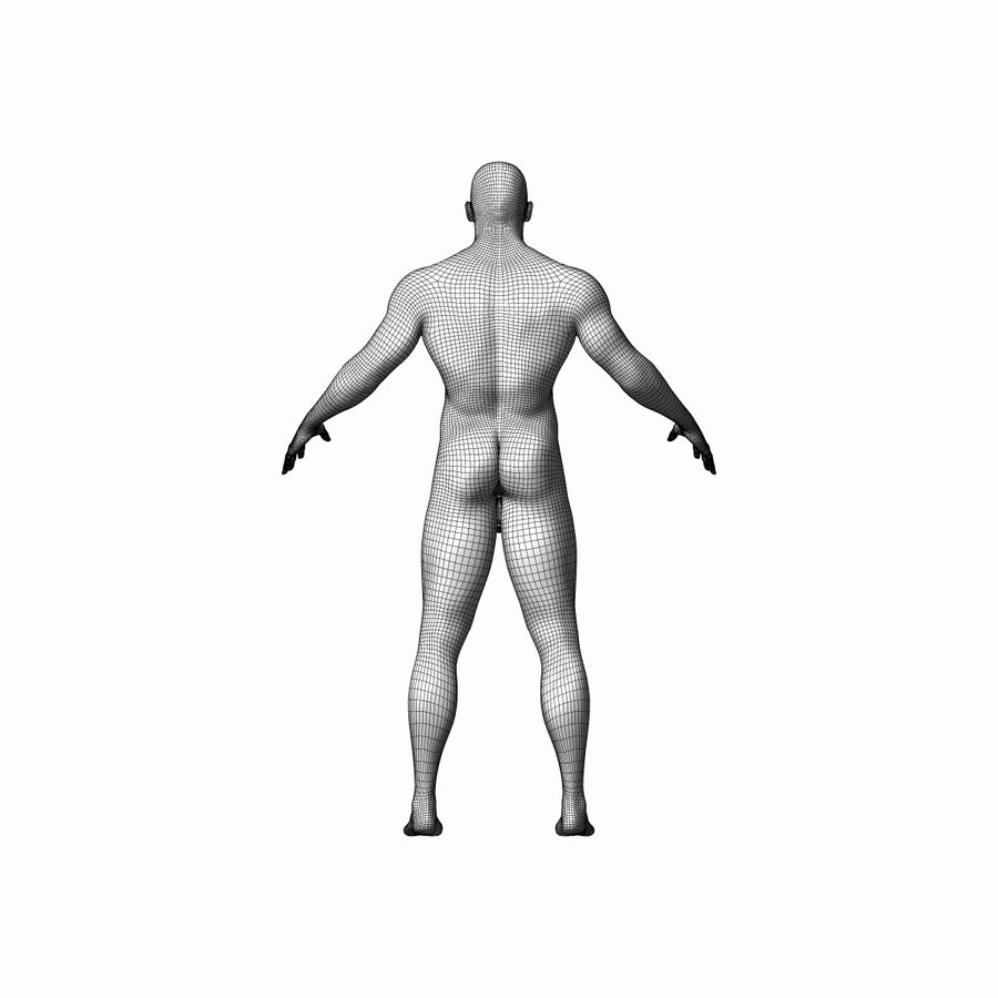 Personnage masculin royalty-free 3d model - Preview no. 8