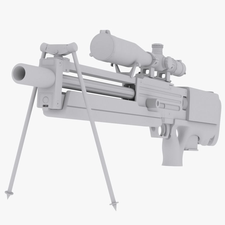 Walther WA2000 No Materials royalty-free 3d model - Preview no. 2