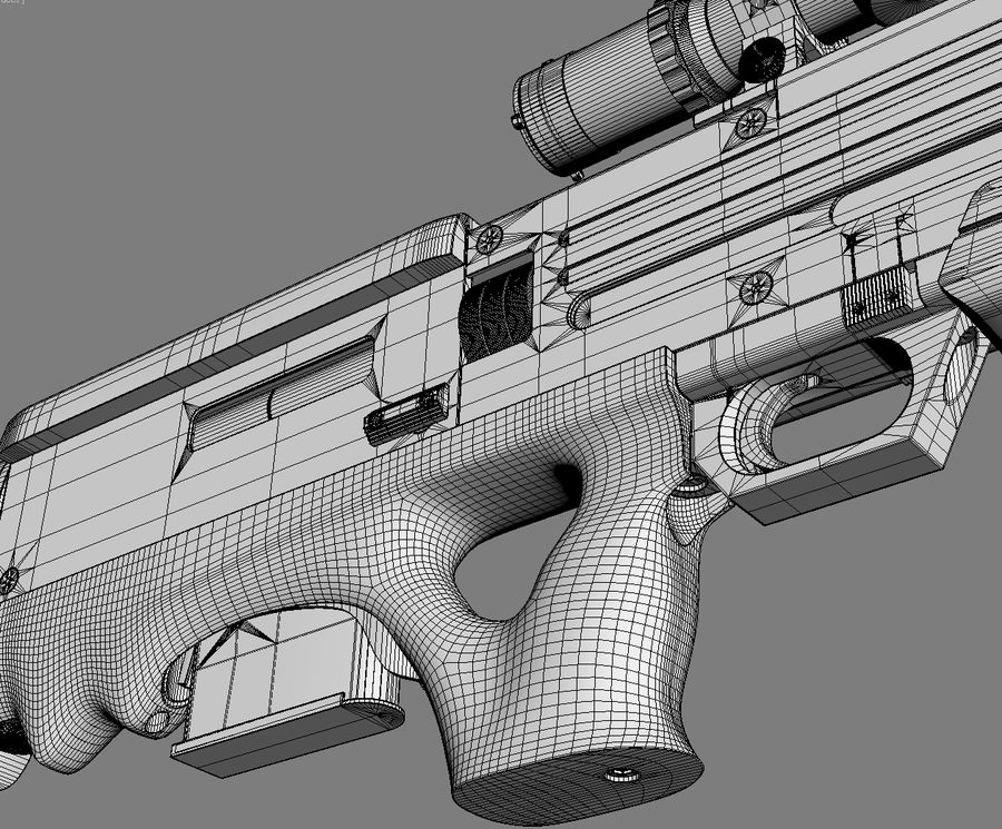 Walther WA2000 Geen materialen royalty-free 3d model - Preview no. 9