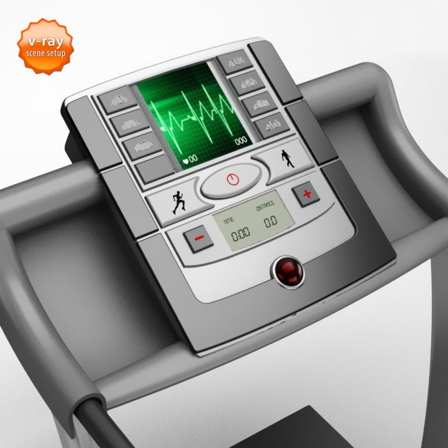 Treadmill royalty-free 3d model - Preview no. 3