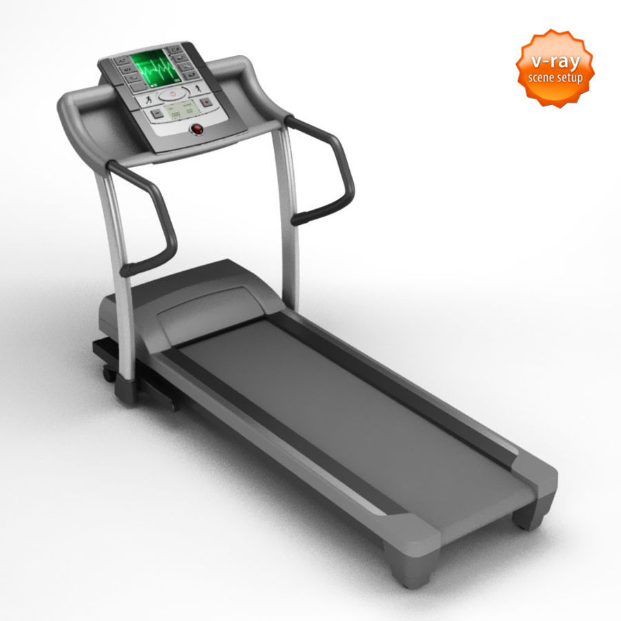 Treadmill royalty-free 3d model - Preview no. 1
