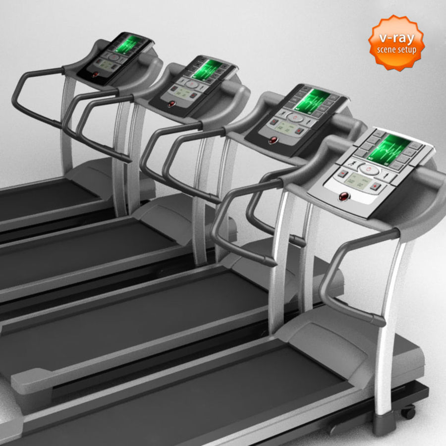 Treadmill royalty-free 3d model - Preview no. 4