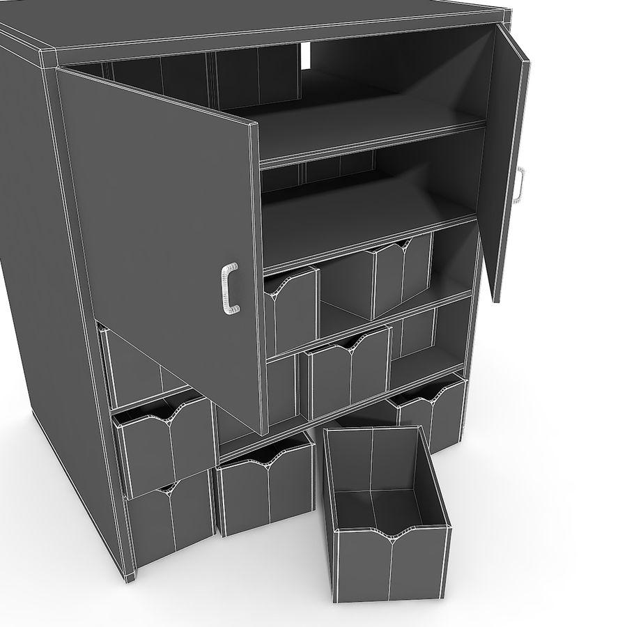 Siłownia Duże wyposażenie Wyposażenie garderoby Wyposażenie półek regałowych narzędzi royalty-free 3d model - Preview no. 14