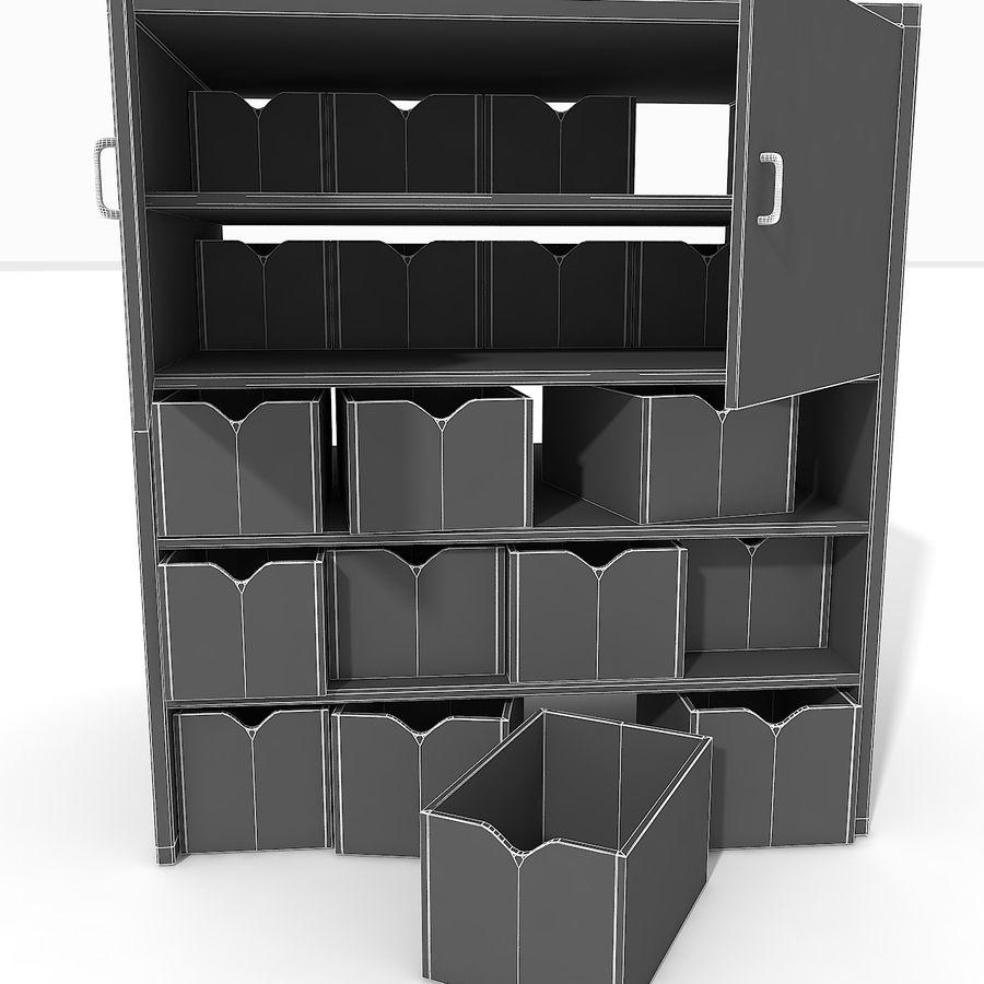 Siłownia Duże wyposażenie Wyposażenie garderoby Wyposażenie półek regałowych narzędzi royalty-free 3d model - Preview no. 15