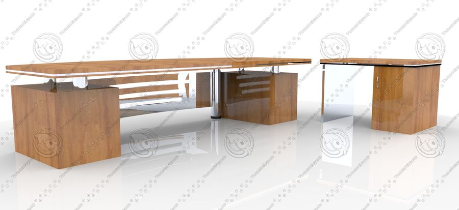 Office Furniture Table royalty-free 3d model - Preview no. 5