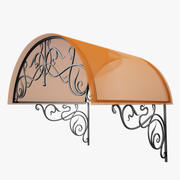 Wrought Iron Awning 2 3d model