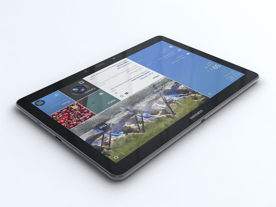 Samsung Galaxy Tab Pro 12.2 royalty-free 3d model - Preview no. 3