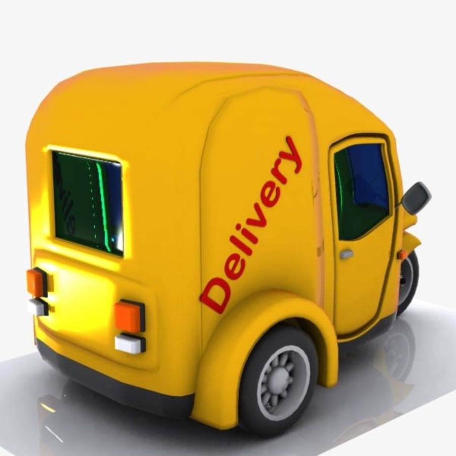 Samochód Trójkołowy Cartoon royalty-free 3d model - Preview no. 6