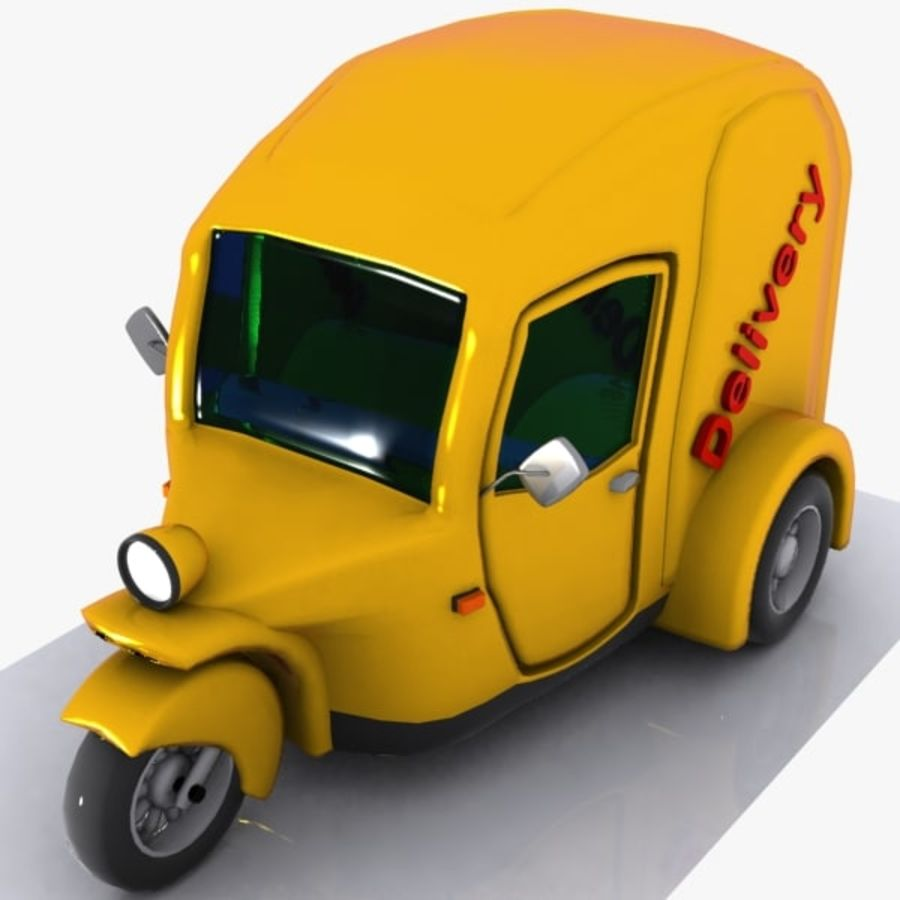 Samochód Trójkołowy Cartoon royalty-free 3d model - Preview no. 5