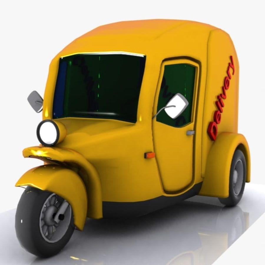 Samochód Trójkołowy Cartoon royalty-free 3d model - Preview no. 4