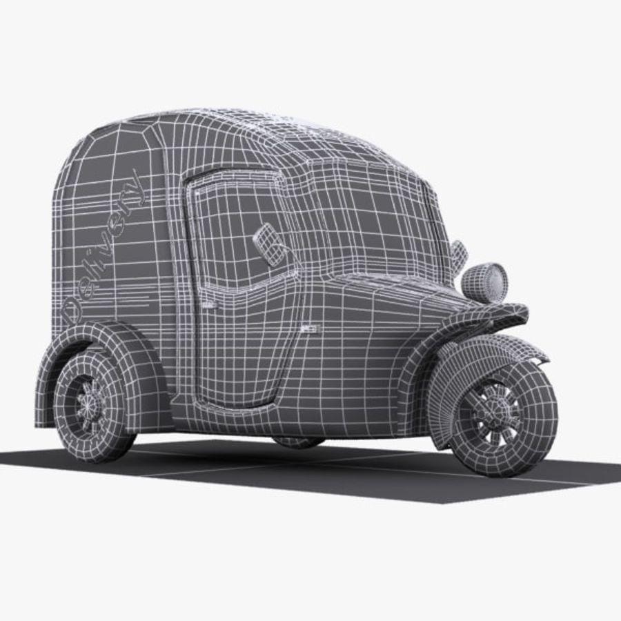 Samochód Trójkołowy Cartoon royalty-free 3d model - Preview no. 11