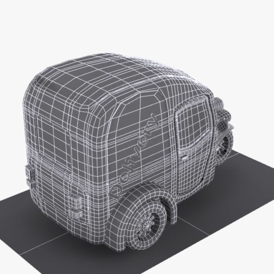 Samochód Trójkołowy Cartoon royalty-free 3d model - Preview no. 10
