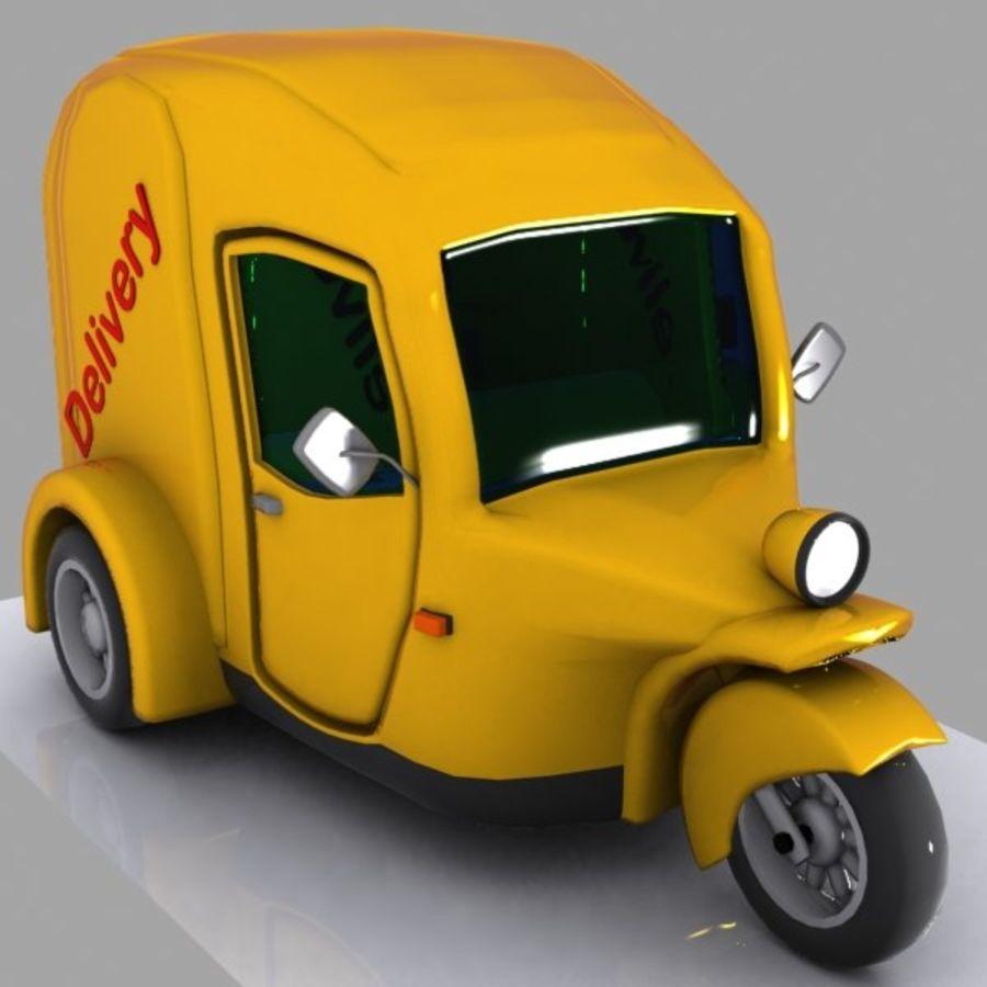 Samochód Trójkołowy Cartoon royalty-free 3d model - Preview no. 2