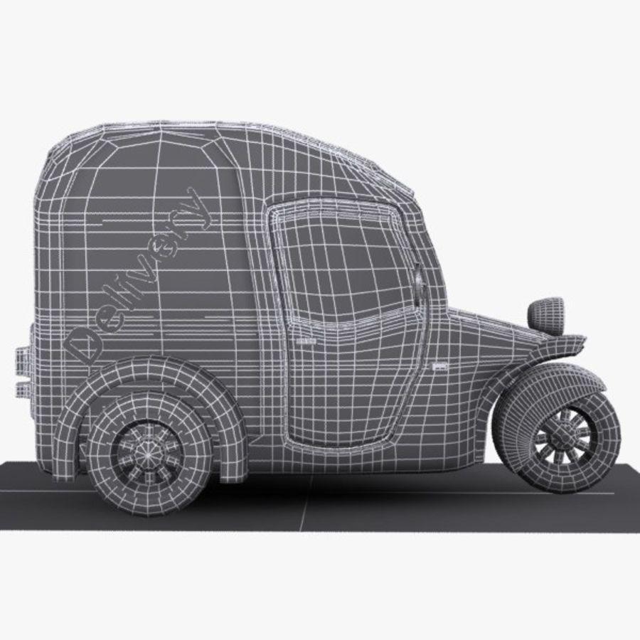 Samochód Trójkołowy Cartoon royalty-free 3d model - Preview no. 9