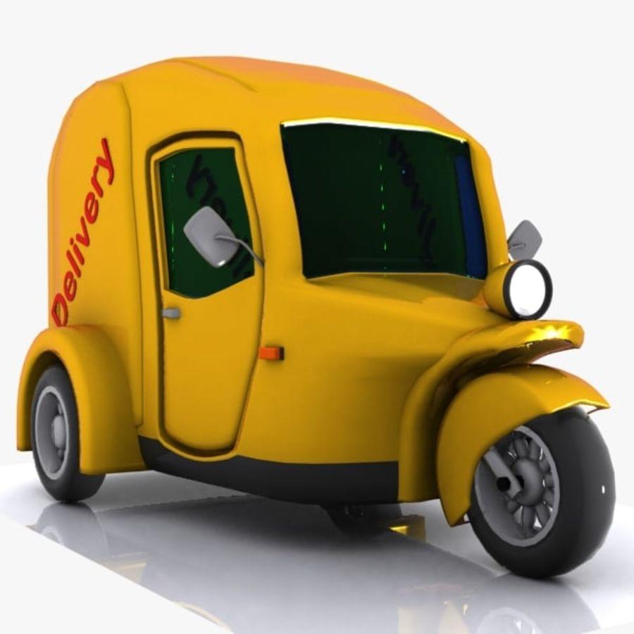 Samochód Trójkołowy Cartoon royalty-free 3d model - Preview no. 3