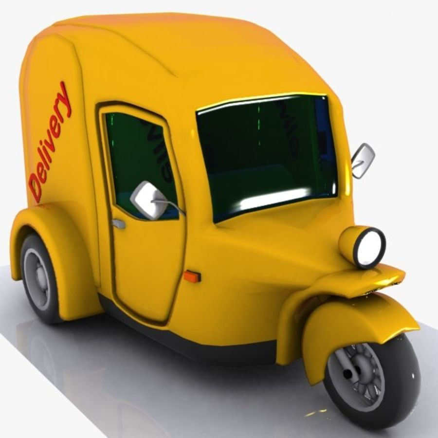 Samochód Trójkołowy Cartoon royalty-free 3d model - Preview no. 1