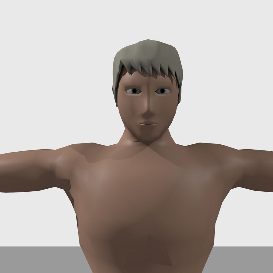男の人 royalty-free 3d model - Preview no. 2
