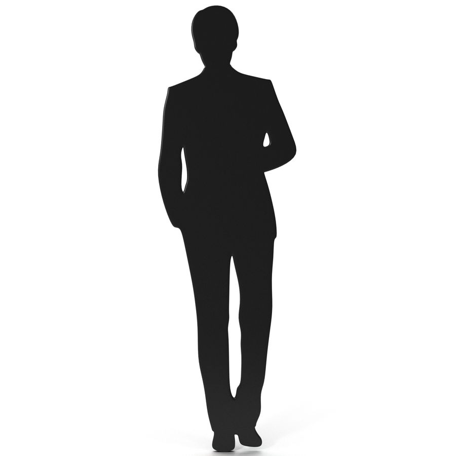 Man in a Suit Silhouette royalty-free 3d model - Preview no. 1