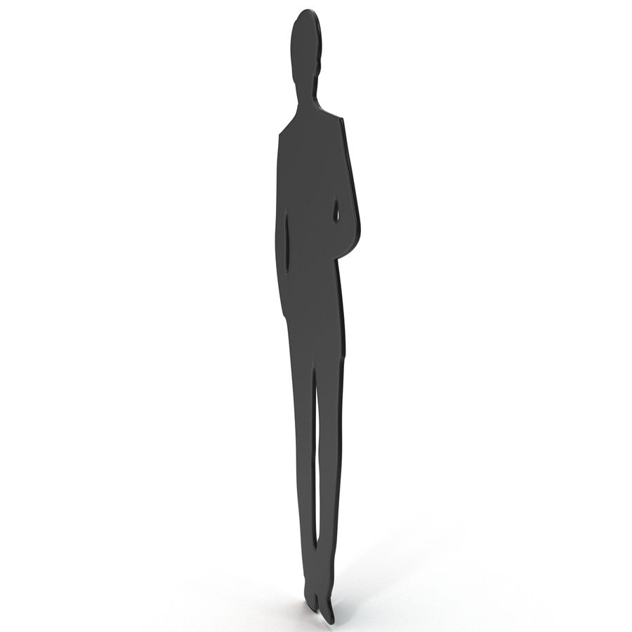 Man in a Suit Silhouette royalty-free 3d model - Preview no. 3