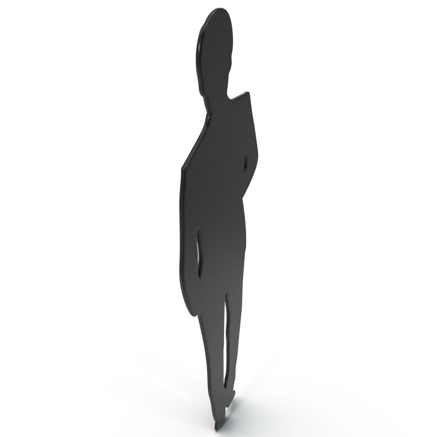 Man in a Suit Silhouette royalty-free 3d model - Preview no. 4