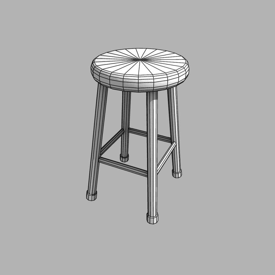 바 의자 royalty-free 3d model - Preview no. 6