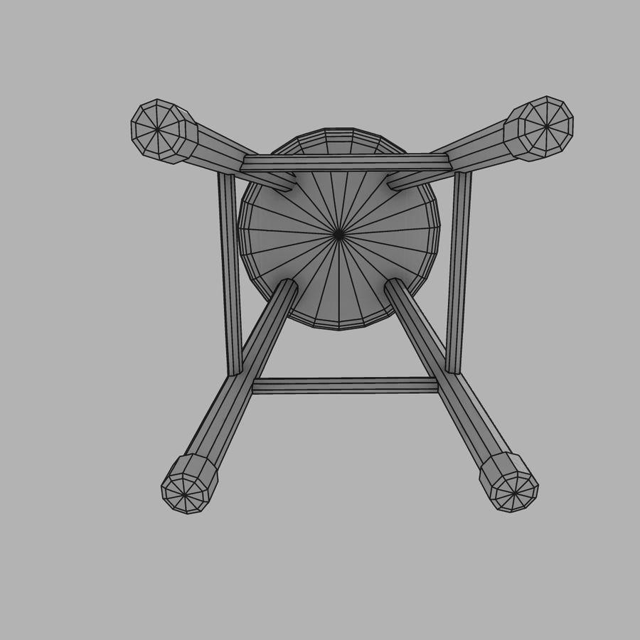 바 의자 royalty-free 3d model - Preview no. 7