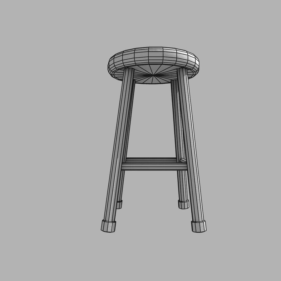바 의자 royalty-free 3d model - Preview no. 8