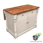 Colonial Kitchen Island 3d model